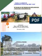Manejo de residuos sólidos ne comunidades amazónicas