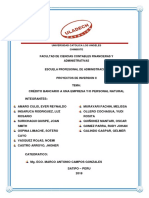 Informe Credito Bancario
