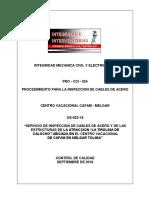Pro-cci-024 Rev 1 Procedimiento de Inspeccion de Cables de Acero