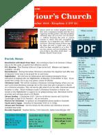 st saviours newsletter - 18 november 2018