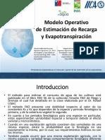 Modelo operativo de estimación de recarga y evapotranspiración