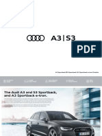 A3 and S3 3door and Sportback Including e Tron Pricelist