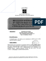 Bulletin d'Essai Plastima