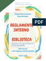 Reglamento Interno Biblioteca