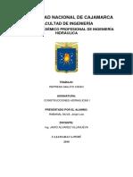El Esquema Hidráulico Del Proyecto y Sus Principales Obras