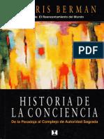 Historia de La Conciencia Berman Morris