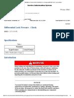 8.Differential Lock Pressure - Check