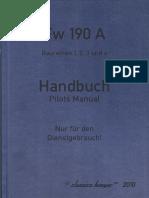 Focke Wulf Fw 190 A Handbuch
