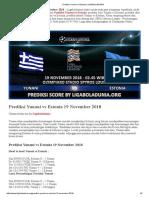 Prediksi Skor Yunani vs Estonia