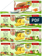 1111 Etiqueta de Yogur Frutado