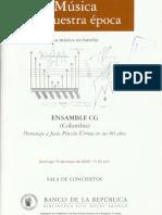 Notas Al Programa - Jesús Pinzon. II