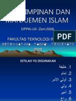 Kepemimpinan Dan Manajemen Islam