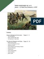 Skirmish Wargame No. 31 - The Last Napoleon - A Fatal Zulu Ambush in 1879