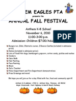 Fall Festival 2010 Flyer