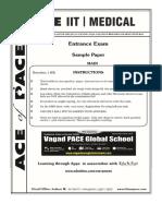 AOP Sample Paper XE Main