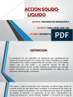 Extraccion Solido-liquido