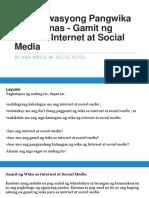 Gamit Ng Wika Sa Internet at Social MediA