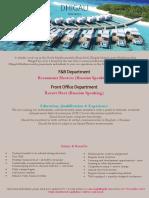 Job-Maldives FNB+FO