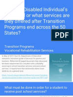 what are disabled individuals after transition programs granted across the 50 states