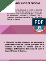 Proceso Del Juicio de Cuentas121