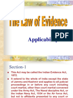 Applicability of Evidence Act