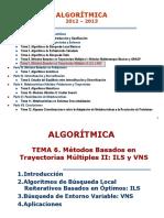 TEMA 6. Métodos Basados en Trayectorias Múltiples II