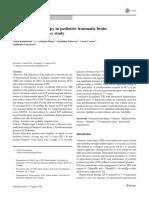Hyperosmolar Therapy in Pediatric Traumatic Brain