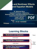 Structural Equation Modelling (SEM)