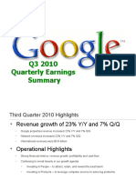 Google Earnings Slides (Q3, 2010)