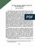 Procedural Due Process Rights of Pro Se Civil Litigants
