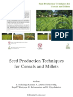 5. Seed Production Techniques for Cereals and Millets