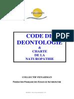 Charte Et Code Du Naturopathe Avec Prestation de Serment