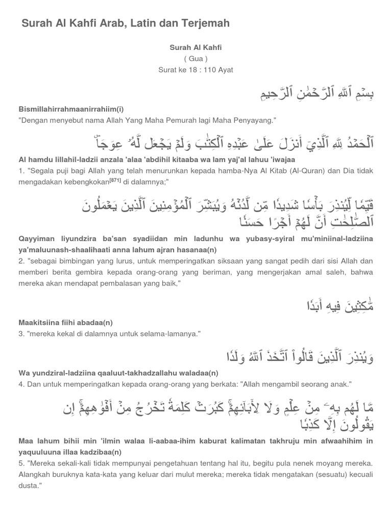 Myke Top Ten Surat Al Kahfi Ayat 1 10 Latin