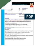 Kumaresan Maniam CV