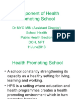 Component of Health Promoting School(11!6!2013)