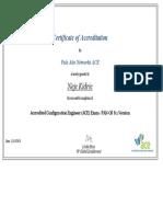 Palo Alto Networks ACE Certificate