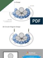 3d Circular Diagram Design 16x9