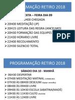 Programação Retiro 2018