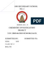Chemistry Investigatory Project XII