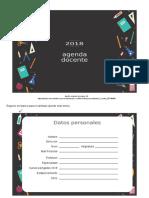 Agenda Docente 4 Editable