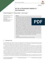 Critical Success Factors for m-Government Adoption in Tanzania