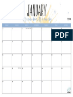 Planner January 2019 Song