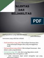 validitas dan reabilitas