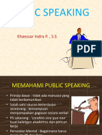 Public Speaking Khaessar