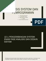 Analisis System Dan Pemrograman