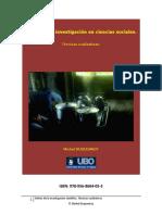 Detras de La Investigacion en Ciencias Sociales - Michel Duquesnoy