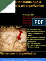 Ob Group Status Quo