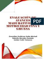 Evaluacion de Avances Madurativos de Motricidad Fina y Gruesa
