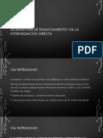 Alternativas de Financiamiento via La Intermediación Directa