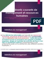 les différents courants de management et ressources humaines par Med. Khalil HIMRI